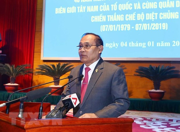 Cambodia always treasures Vietnam's support in genocide fight: official hinh anh 1