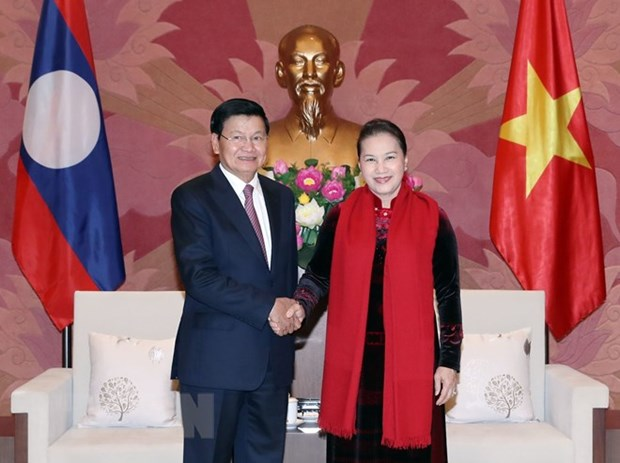 Vietnamese NA to closely cooperate with Lao counterpart: Chairwoman hinh anh 1