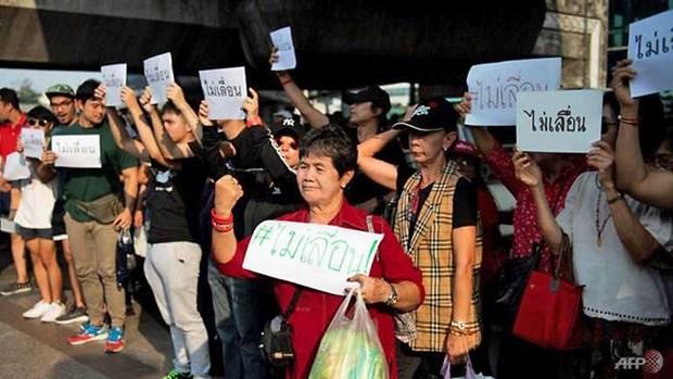 Bangkok protestors request no delay of general election hinh anh 1