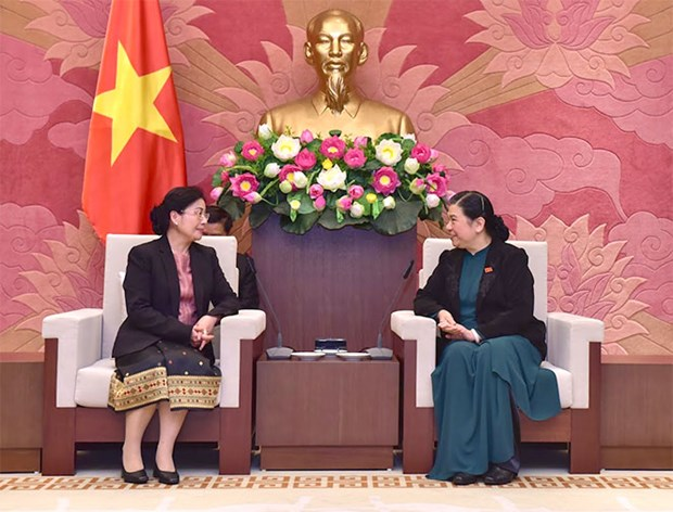 NA leader welcomes head of Lao State Audit Organisation hinh anh 1
