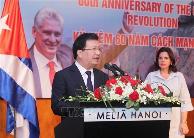 Cuban Embassy celebrates 60th anniversary of revolution hinh anh 1