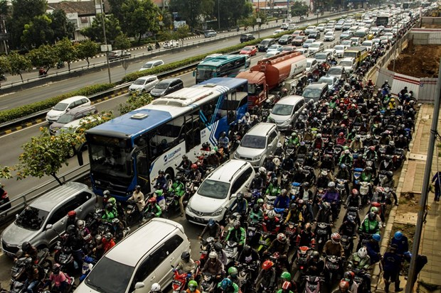 Indonesia loses 4.7 bln USD each year to traffic jams hinh anh 1