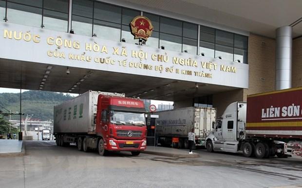 Border gates in Lao Cai province break trade record hinh anh 1