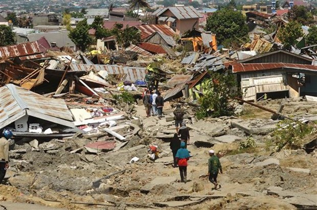 Indonesia speeds up construction of temporary houses for tsunami victims hinh anh 1