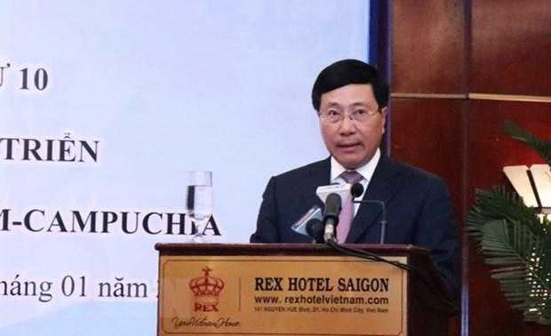 Vietnamese, Cambodian border provinces convene 10th meeting hinh anh 1