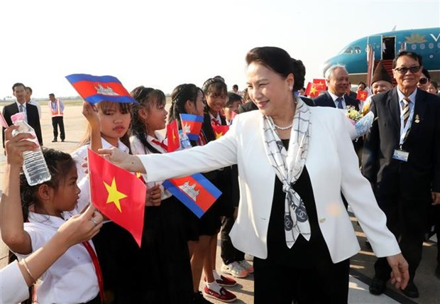 NA Chairwoman arrives in Siem Reap for APPF-27 hinh anh 1