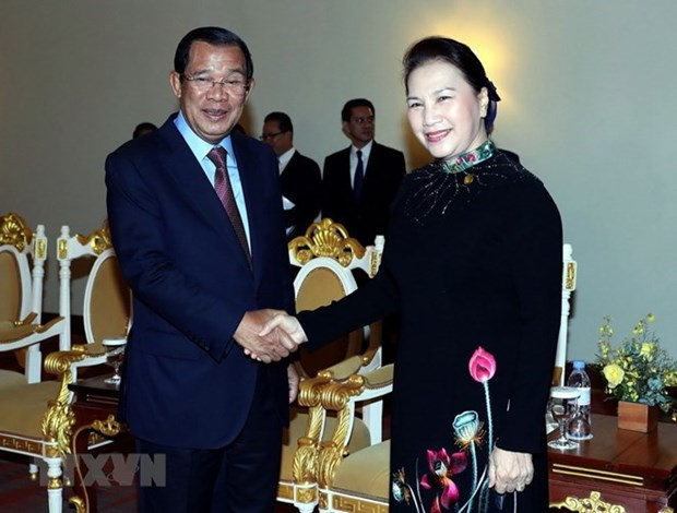 NA Chairwoman meets with Cambodia Prime Minister hinh anh 1