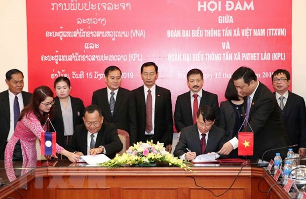 NA Vice Chairwoman receives Lao news agency delegation hinh anh 2