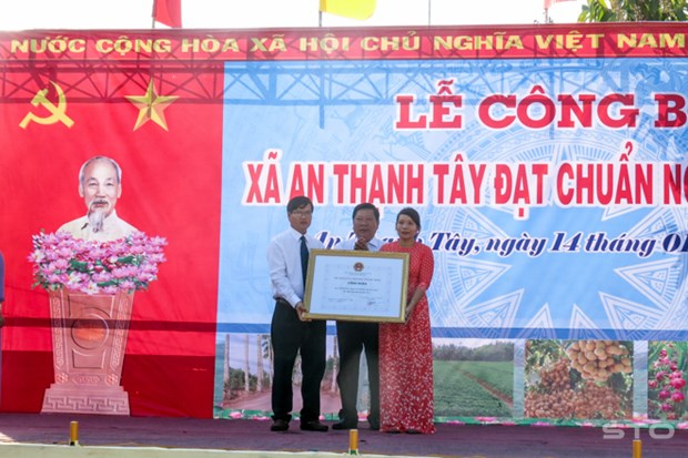 Soc Trang's island commune recognized as new-style rural area hinh anh 1