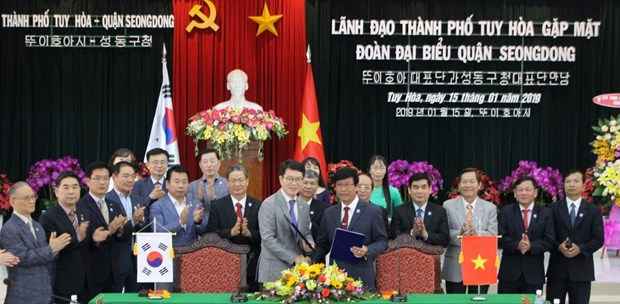 Tuy Hoa city expands cooperation with RoK's Seongdong district hinh anh 1