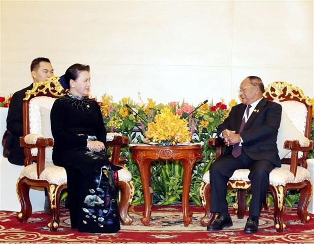 NA Chairwoman urges early completion of Vietnam-Cambodia border demarcation hinh anh 1