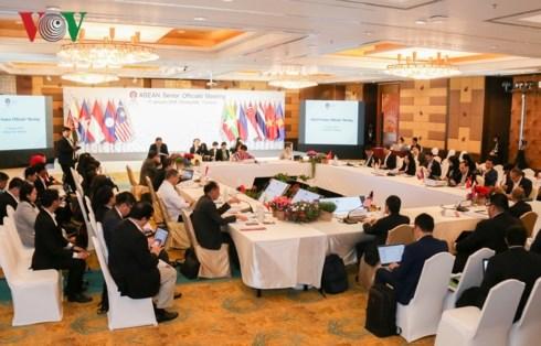ASEAN senior officials prepare for AMM Retreat hinh anh 1