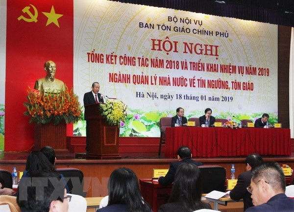Deputy PM directs religious work for 2019 hinh anh 1