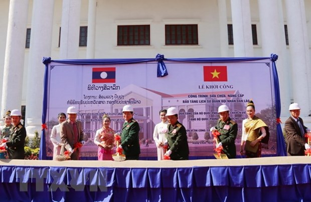 Vietnam helps Laos upgrade Military History Museum hinh anh 1