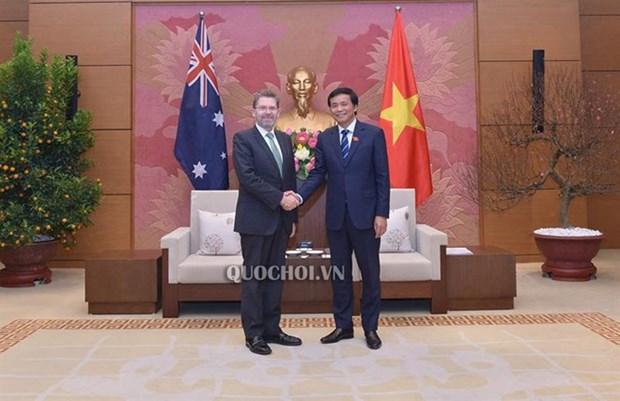 NA Secretary General meets with Australian Senate President hinh anh 1
