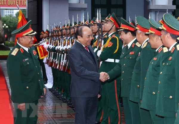 Prime Minister visits Ministry of Defence's General Department II hinh anh 1
