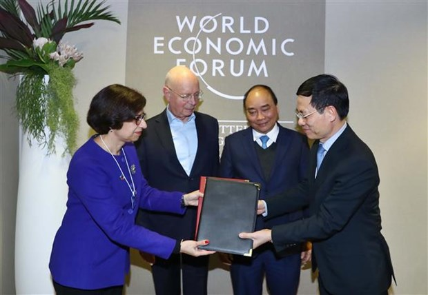 Prime Minister meets with foreign leaders in Davos hinh anh 1