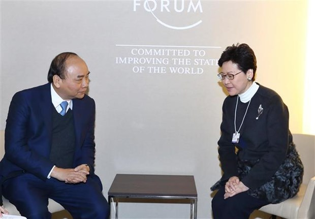 Prime Minister meets with foreign leaders in Davos hinh anh 2