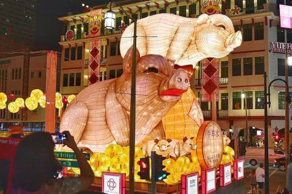 Singapore's Chinatown dresses up for Lunar New Year hinh anh 1