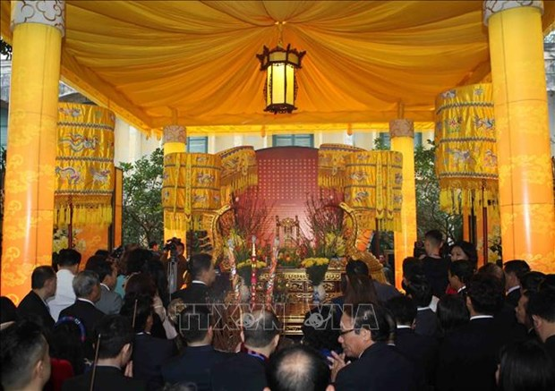 Traditional Tet rituals re-enacted at Thang Long relic site hinh anh 3