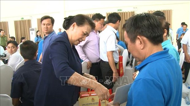 Top legislator attends Tet gathering in Binh Duong hinh anh 1