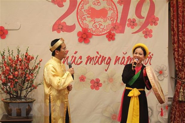 Overseas Vietnamese across continents welcome Year of the Pig hinh anh 1
