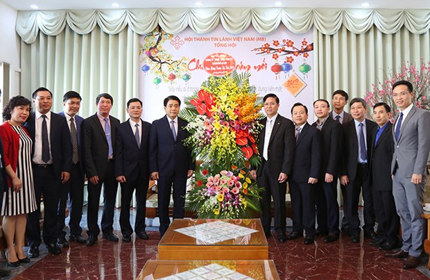 Hanoi leader visits Evangelical Church ahead of Tet hinh anh 1