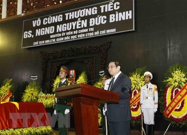 Former Politburo member Nguyen Duc Binh memorized at birthplace hinh anh 1