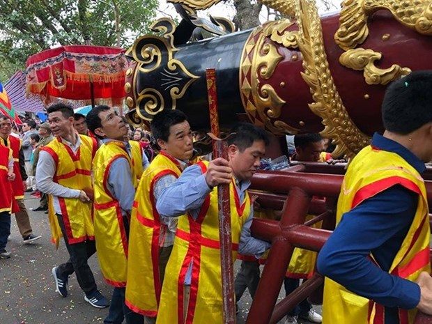 Firecracker procession festival kicks off in Bac Ninh hinh anh 1