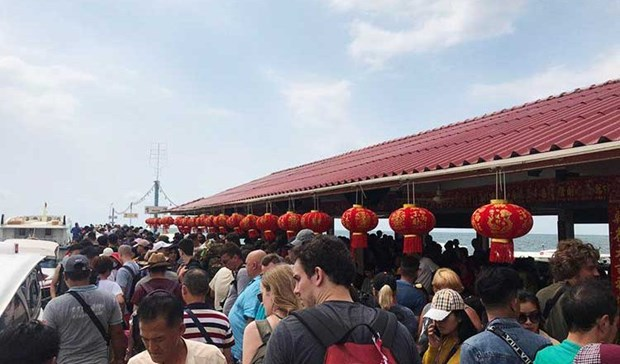 Cambodia hosts nearly 1 million tourists on Lunar New Year hinh anh 1