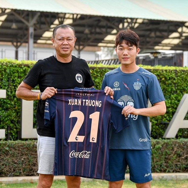 Midfielder Luong Xuan Truong signs for Buriram United hinh anh 1