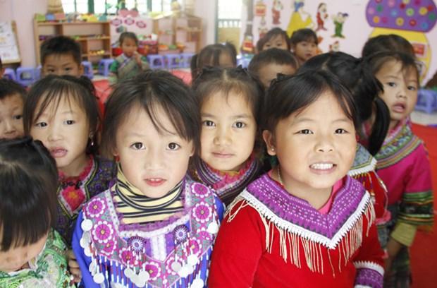 Vietnamese language teaching enhanced for ethnic children hinh anh 1