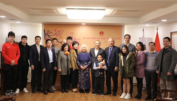 Vietnam embassy in RoK holds exchange with coach Park Hang-seo hinh anh 1