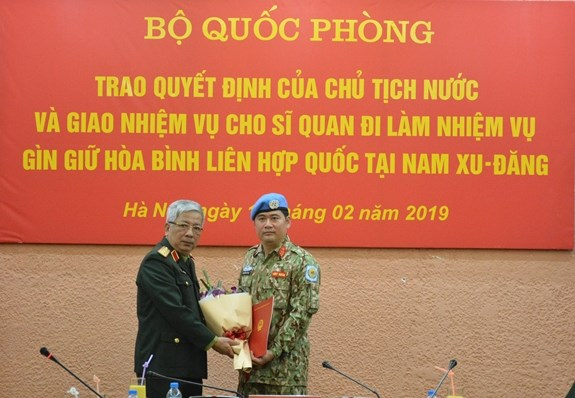 Another Vietnamese officer assigned peacekeeping duty in South Sudan hinh anh 1