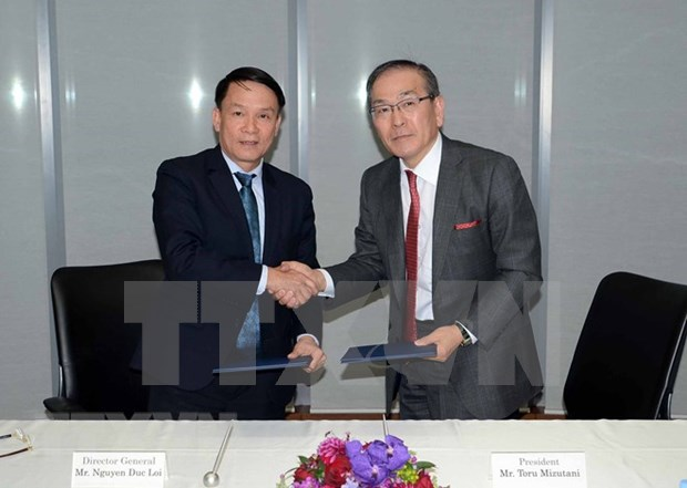 Vietnam News Agency delegation pays working visit to Japan hinh anh 1