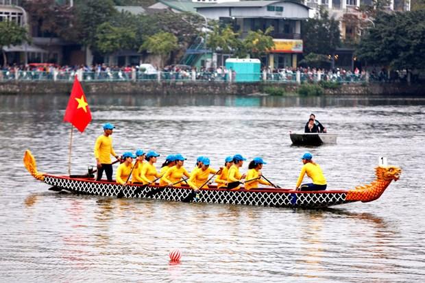 Hanoi open dragon boat race 2019 kicks off hinh anh 1