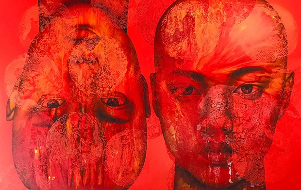 Thai artist's paintings introduced in Hanoi hinh anh 1