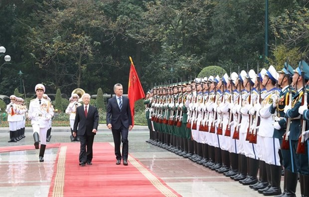 Argentine President welcomed in Vietnam hinh anh 1