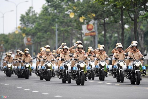 Hanoi police work to ensure security for DPRK-USA summit hinh anh 1