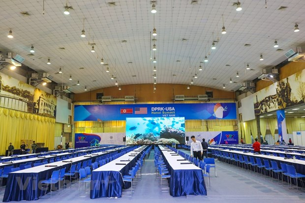 Int'l media centre for 2nd DPRK-USA Summit inaugurated hinh anh 1