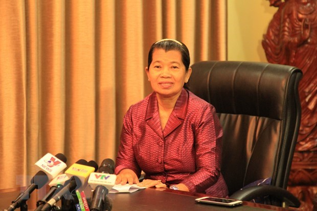 Vietnam-Cambodia ties to develop robustly in future: official hinh anh 1