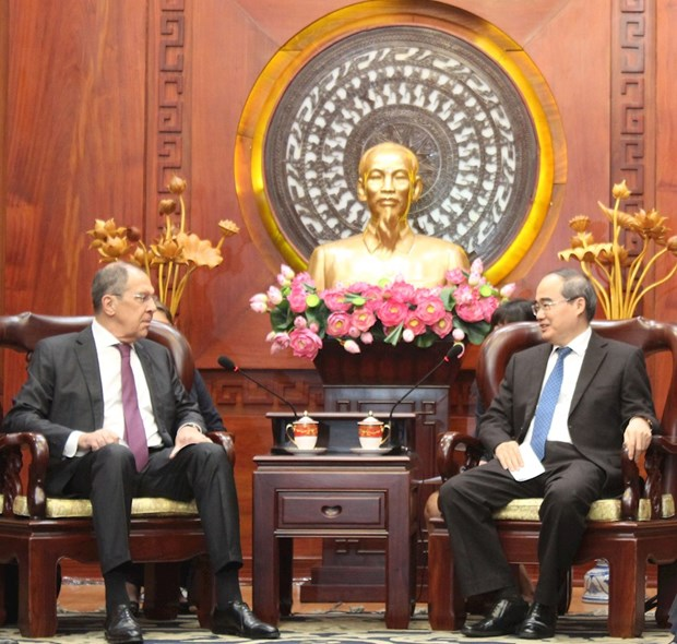 Ho Chi Minh City leader hosts Russian Foreign Minister hinh anh 1