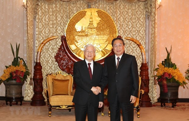 Party General Secretary, President meets former leader of Laos hinh anh 1