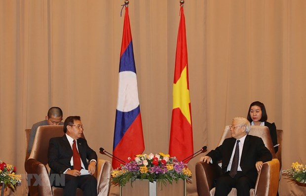 Party, State leader lauds joint work between Vietnamese, Lao fronts hinh anh 1
