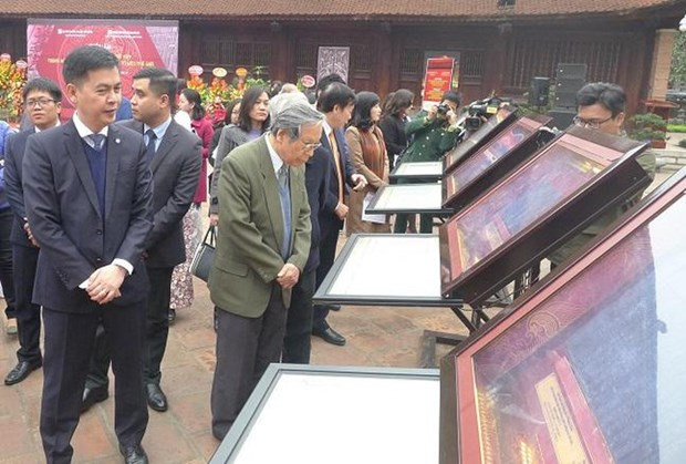 Wood block exhibition spotlights Vietnam's feudal names, capitals hinh anh 1