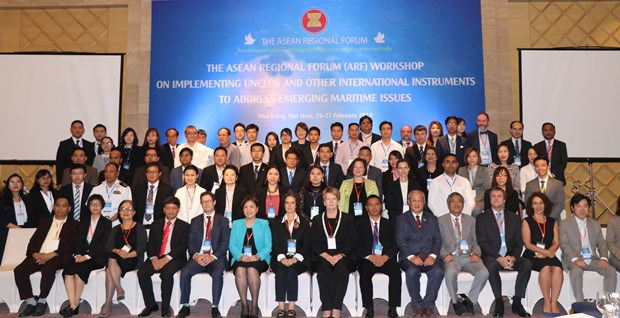 Workshop on implementing UNCLOS to address sea-based challenges hinh anh 1