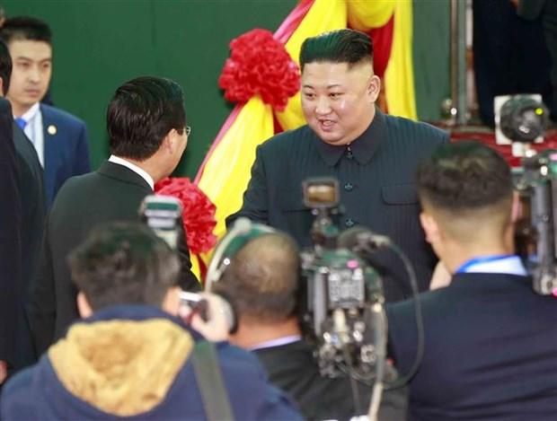 DRPK media highlights Kim's trip to Vietnam hinh anh 1