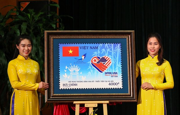 Stamp set issued to welcome DPRK-USA Summit hinh anh 1