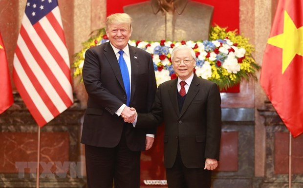 Top Vietnamese leader holds talks with US President hinh anh 1