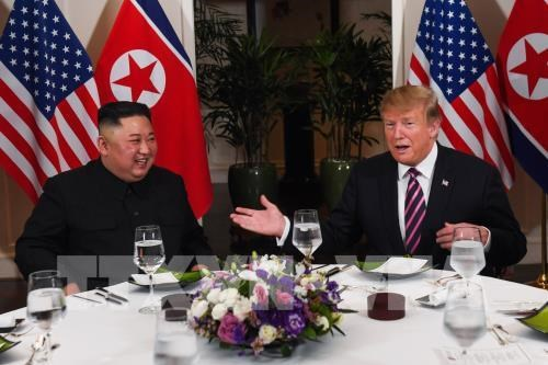 US, DPRK leaders have dinner following talks hinh anh 1